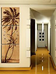 Horloge murale pittoresque de style moderne en toile 3pcs k0149