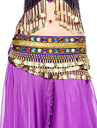 Dancewear Velvet With Beading Performance Belly Dance For Belt Ladies More Colors