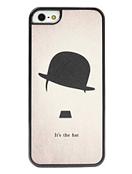 Round Hat Pattern Hard Case for iPhone 5/5S