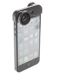 3-in-1 Quick-Change Camera Lens for iPhone 5/5S(Fish Eye, Wide Angle and Macro Lens)