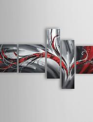 pintados à mão pintura a óleo abstrata, com quadro esticado - conjunto de 5