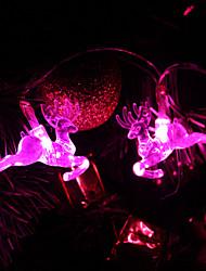 1.5M 10-LED Deer Shaped Pink Light String Fairy Lamp for Christmas (3xAA)