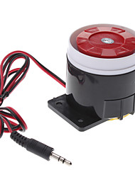 120dB laute Alarmanlage Siren Horn Speaker Buzzer (DC 6 ~ 16V, Black Red)