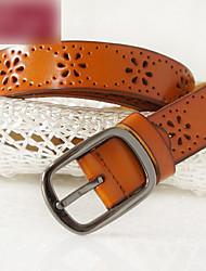 Women's Casual Cut Out Simple Belt(111*2.7*0.3cm)