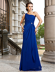 Formal Evening/Prom/Military Ball Dress - Royal Blue Plus Sizes A-line/Princess One Shoulder Sweep/Brush Train Chiffon