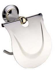 Contemporary Solid Brass Wall Mount Toilet Roll Holders