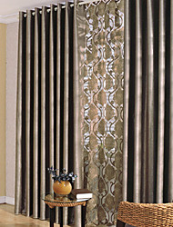 Two Panels Curtain Modern Bedroom Polyester Material Blackout Curtains Drapes Home Decoration For Window