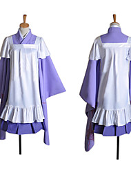 Inspired by Vocaloid Megurine Luka Video Game Cosplay Costumes Cosplay Suits Patchwork Purple Long SleeveKimono Coat / Skirt / Dress /