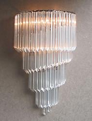 60W E14 Chrom-Finish Wandleuchte mit Kristallglas Strips und 3 Lights