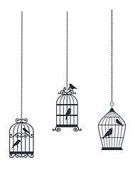 Tre Uccelli Cage Wall Stickers