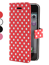 Wave Point Pattern PU Leather Case for iPhone 5/5S (Assorted Colors)