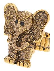 Vintage Style Elephant Shape Elasticity Ring