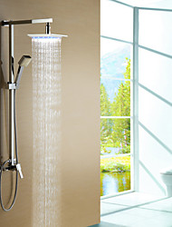 Shower Faucet Color Changing LED with 8 inch Shower Head + Hand Shower