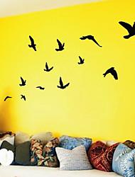 Стикеры на стену, летающие птицы