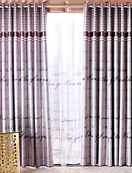 (Dos paneles) Habitación palabras modernas de impresión cortina de oscurecimiento