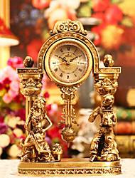 "13.5"" Retro European Style Polyresin Table Clock"