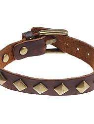 Z&x® квадрат заклепки кожаный браслет