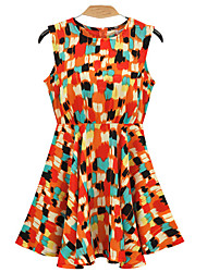 ALAN Geometric Print Skater Dress (mehr Farben)