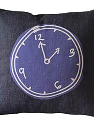 duas algodão / linho fronha decorativo horas