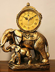 "9"" Retro Royal Polyresin Table Clock"