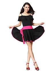 Dancewear viscose vestido de dança latina para senhoras mais cores