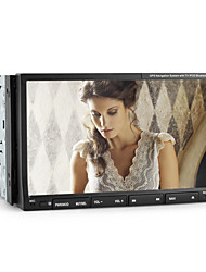 7 polegadas 2DIN dvd player do carro dentro pip, tv, rds, 3d interface, controle de volante