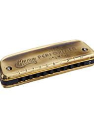 Huang - (102) Blues Harp Archaize Boat Harmonica 10 Holes/20 Tones