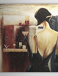 Peint à la main Personnage Un Panneau Toile Peinture à l'huile Hang-peint For Décoration d'intérieur