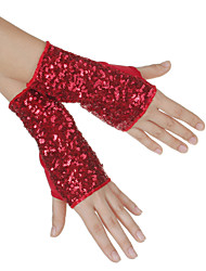 Dance Accessories Stage Props / Dance Glove Women's Performance Cotton Sequins Black / Gold / Red / Silver Spring, Fall, Winter, Summer