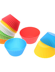 DIY Baking Silicone Colorful Cake Cups Moulds (12-Pack)