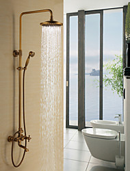Personalized Tub Shower Faucet in Antique Brass finish Tub Shower Faucet with 8 inch Shower Head + Hand Shower