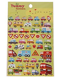 Colorful Vehicle Characteristic Series Stereo Bubble Sticker