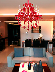40 Chandelier ,  Modern/Contemporary Chrome Feature for Crystal Metal Living Room Bedroom
