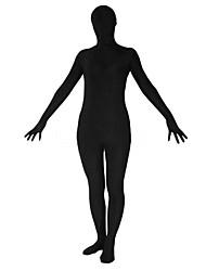 Disfraces Zentai Ninja Zentai Disfraces de Cosplay Negro Un Color Leotardo/Pijama Mono / Zentai Licra Spándex Unisex Halloween / Navidad
