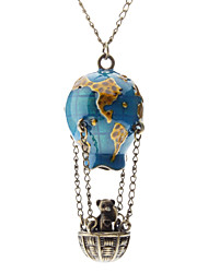 Necklace Pendant Necklaces Jewelry Daily Fashion Alloy / Glass Blue 1pc Gift