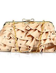 Unique Satin with Crystal Evening Handbag/Clutches(More Colors)