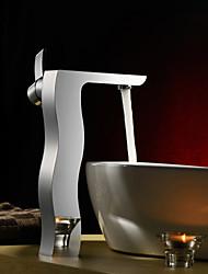 bestreuen ® von lightinthebox - Einhand centerset massivem Messing Waschbecken Wasserhahn (groß)-Chrom-Finish