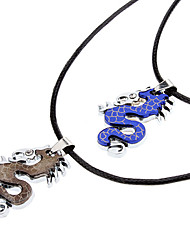 Z&X®  Chinese Dragon Couple Necklace Best Friends Necklaces