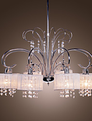 Max 40W Chandelier ,  Modern/Contemporary Chrome Feature for Crystal Metal Living Room / Bedroom