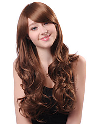 Capless Long Brown Curly Hot Sale High Quality Synthetic Japanese Kanekalon Wigs