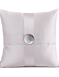 Button Design Cotton Decorative Pillow Cover