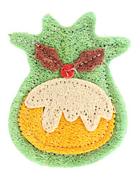 Christmas Deer Style Tooth Cleaning Green Loofah Pet Toys for Dogs