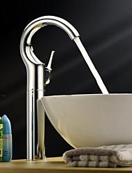 polvilhe ® por LightInTheBox - única alça centerset sólida latão cromado torneira pia do banheiro (de altura)