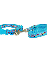 Candy and Puppy Pattern Collar with Little Bell and Leash for Dogs (Assorted Color)