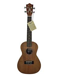 hanknn - (5230s) ukulele concerto sólido de mogno com bag / string / picaretas