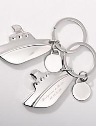 Zinklegierung Keychain Favors-4 Stück / Set Schlüsselanhänger Strand Thema individualisiert