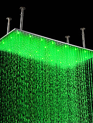 20 x 39 inch Stainless Steel Shower Head with Color Changing LED Light