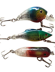 "3 pcs Hard Bait / Lure kits / Fishing Lures Lure Packs / Hard Bait Green / Red / Blue 10~12 g/7/16 oz. / 3/8 oz. Ounce mm/3-1/4"" / 3"" /"