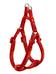 Glasses and Purse Pattern Harness and Leash for Dogs (Assorted Color)