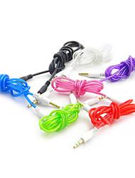 1 x 3,5 milímetros aux cabo de saída de áudio para carro (1 m, cor aleatória)